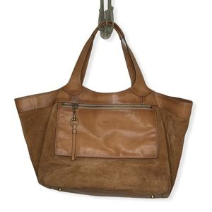 COACH Leather and Suede Extra Large Tote